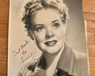 Alice Faye signed photo