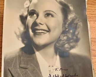Sonja Henie signed photo