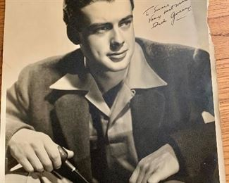 "Richard Greene signed photo ""Adventures of Robinhood"""