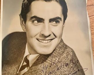 Tyrone Power signed photo