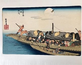 Woodblock print - Hiroshigi