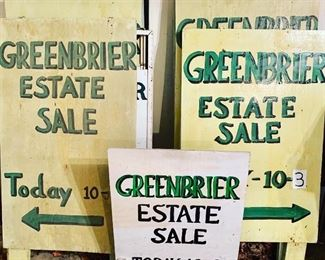 This estate sale is at the home of the former owner of renowned Greenbrier Estate Sales!