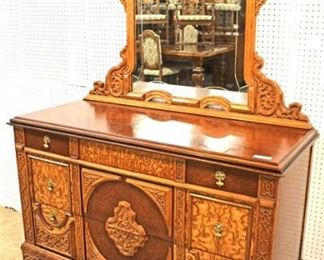 VERY VERY GOOD Condition  FANTASTIC 6 Piece ANTIQUE Depression Burl Walnut and Oak Bedroom Set with Full Size Bed  Auction Estimate $2000-$4000 – Located Inside