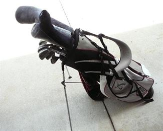 Callaway golf bag with Ping clubs and a Big Bertha Driver