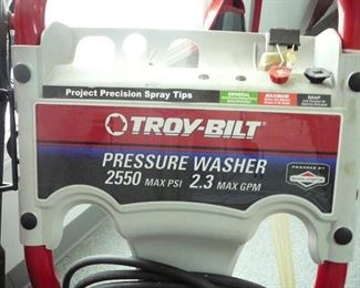detail on Troy Built Pressure Washer
