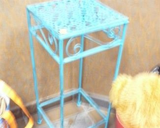 Small metal Turquoise Garden stand