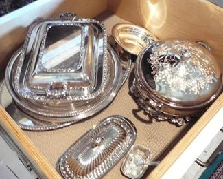 Several Nice Vintage Silver Plated Serving Pieces
