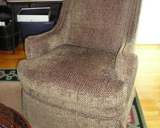 Nice Century Occasional Chair with Nail Head Trim