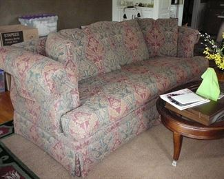 Beautiful Paisley Print Drexel Heritage Sofa