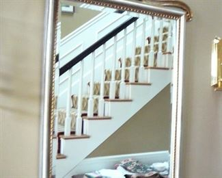 Gilted Frame Hall Mirror with shell Motif