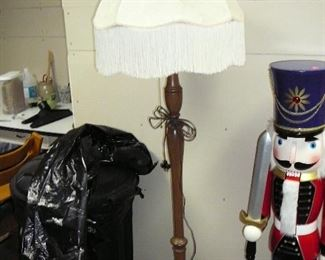Victorian Floor lamp with Fringed Lamp Shade