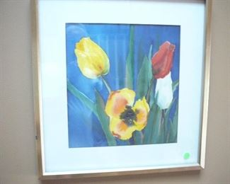 Tulips watercolor by Jane caroll