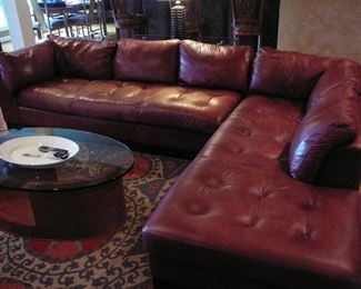 Gorgeous Pecan Chateau Leather Sectional (was $4000 New) buy it for a fraction now!