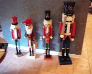 4 Large Nutcrackers from 36 to 48 inches