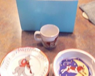 "Tiffany ""Hey diddle diddle"" baby serving set"
