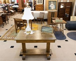 One of the clients we are representing in this sale was a woodworker.  He made some beautiful pieces.