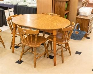 Maple table/6 chairs
