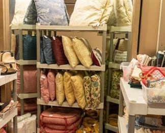Linens, pillows, etc.