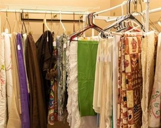 Tablecloths, curtains, etc.