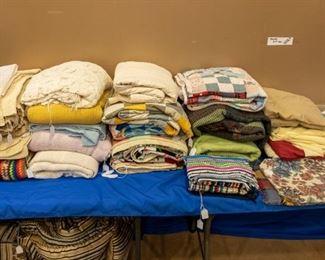 Quilt blocks, blankets, place mats, napkins, towels, sheets, etc.