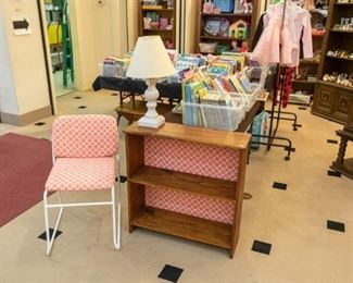 Matching chair/bookcase.