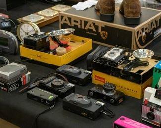 Vintage cameras, etc.