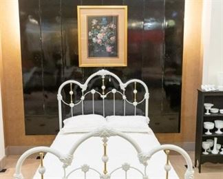 BEAUTIFUL Iron bed!  The coverlet is from Pottery Barn.
