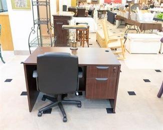NICE smaller executive desk -  excellent condition!
