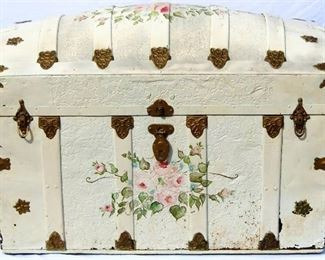 Antique Hand-painted Trunk