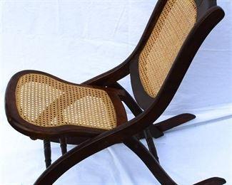 Folding Cane Rocking Chair