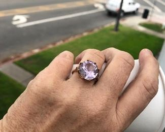 Amethyst ring in 14k $400