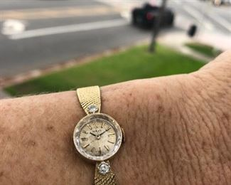 Rolex ladies watch with 2 diamonds (not currently running) $1000