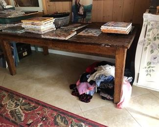 Very Large Rustic Antique Library desk table $2000