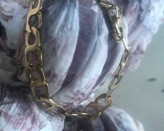 14 K Chain Bracelet $600
