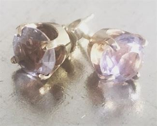 14k and very pale amethyst earrings 14K $150