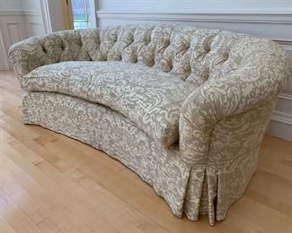 Custom Made Tufted Rounded Back Sofa