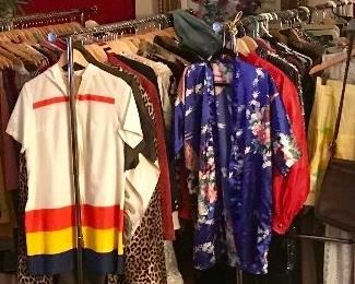 racks and racks of fun vintage clothing!