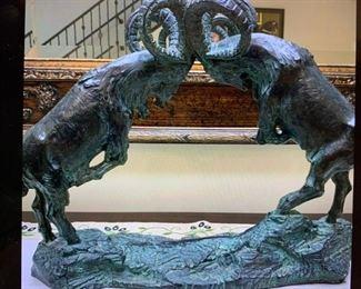 Exceptional Rocky Mountain Bighorn Sheep Bronze-Like Sculpture!