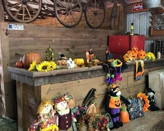 Lots of Holiday decorations and decor including Autumn, Halloween, Christmas, Easter, and more.