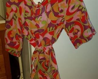vintage 60s Pucci style dress, vintage clothing