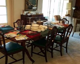 Antique Cherrywood table with 8 chairs