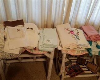 vintage lace and linens