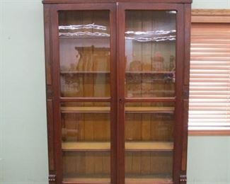 Eastlake Walnut 2 Door/2 Drawer Bookcase