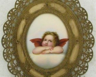 Miniature Hand Painted Angel On Porcelain