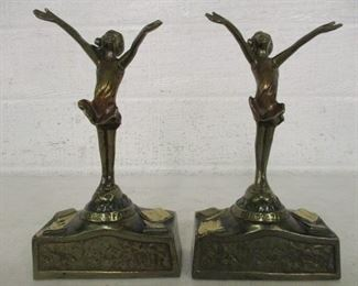 The Good Fairy Pompeian Bronze Book Ends
