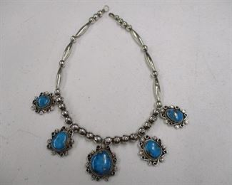 Southwest Silver & Turquoise Necklace
