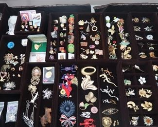 Brooches and pins.