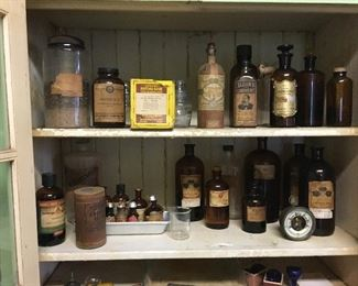 Specimens, quack remedies, oils. Powders and more.