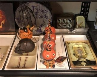Halloween Decor: Ragon House Crow Glass Magnets, Finger Foods Plates, Bethany Lowe Designs...