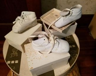 vintage baby shoes with boxes